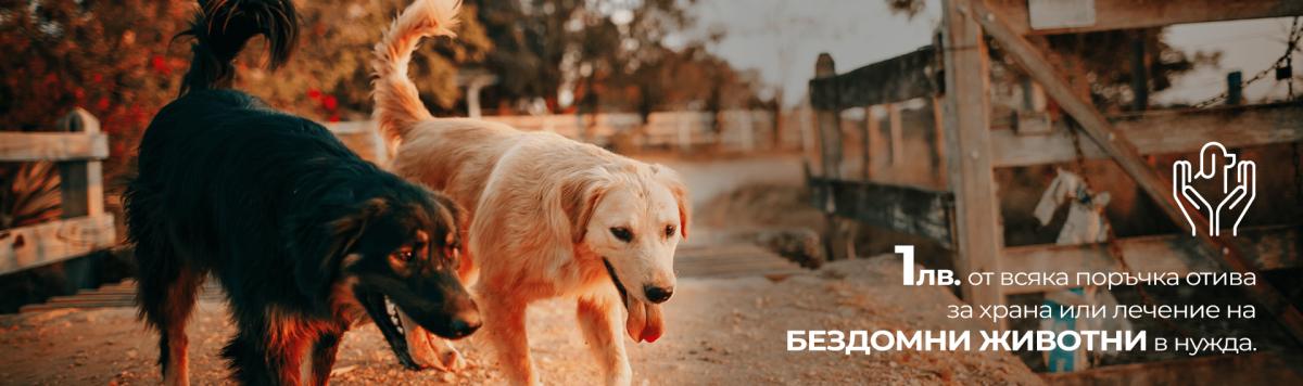 Даряване на част от печалбата за благотворителни цели свързани с бездомни животни и такива в нужда